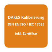 DAkkS-Kalibrierzertifikat Feuchte / Temperatur D.2101