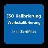 ISO-Kalibrierzertifikat Temperatur +200°C ... +1200°C